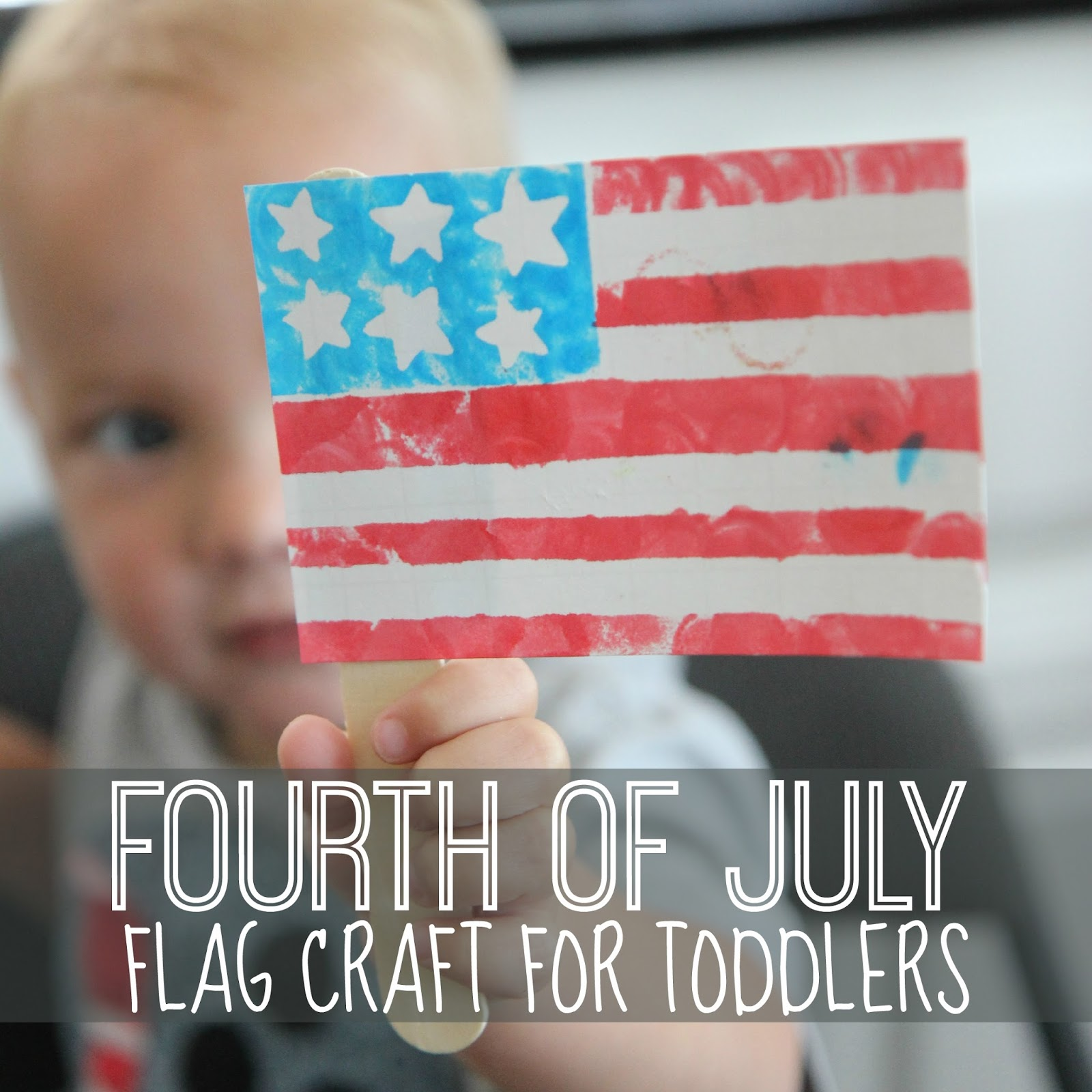 Toddler Approved Fourth Of July Flag Craft For Toddlers