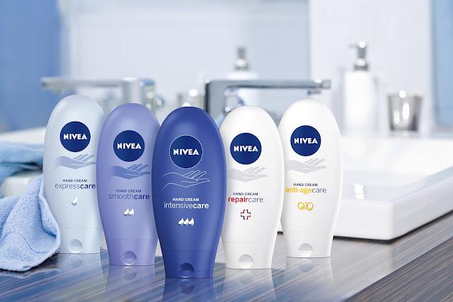 nivea hand cream range