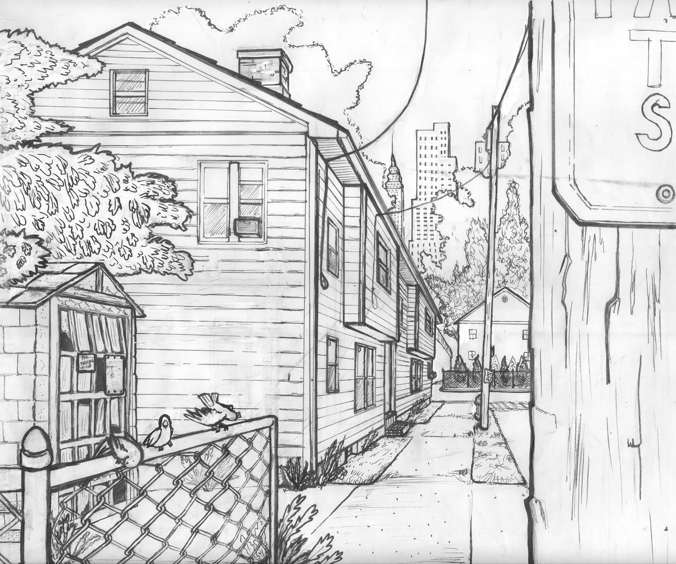 The Wheeler Art Blog Instructional One Point Perspective