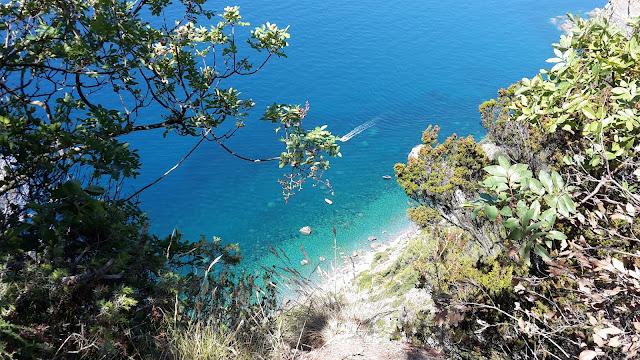 blue sea in Cinque Tere