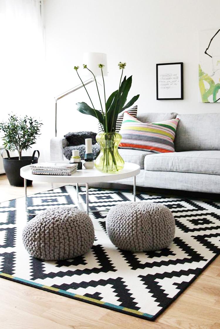 Tips deco c mo combinar la alfombra perfecta para cada for Alfombras de living