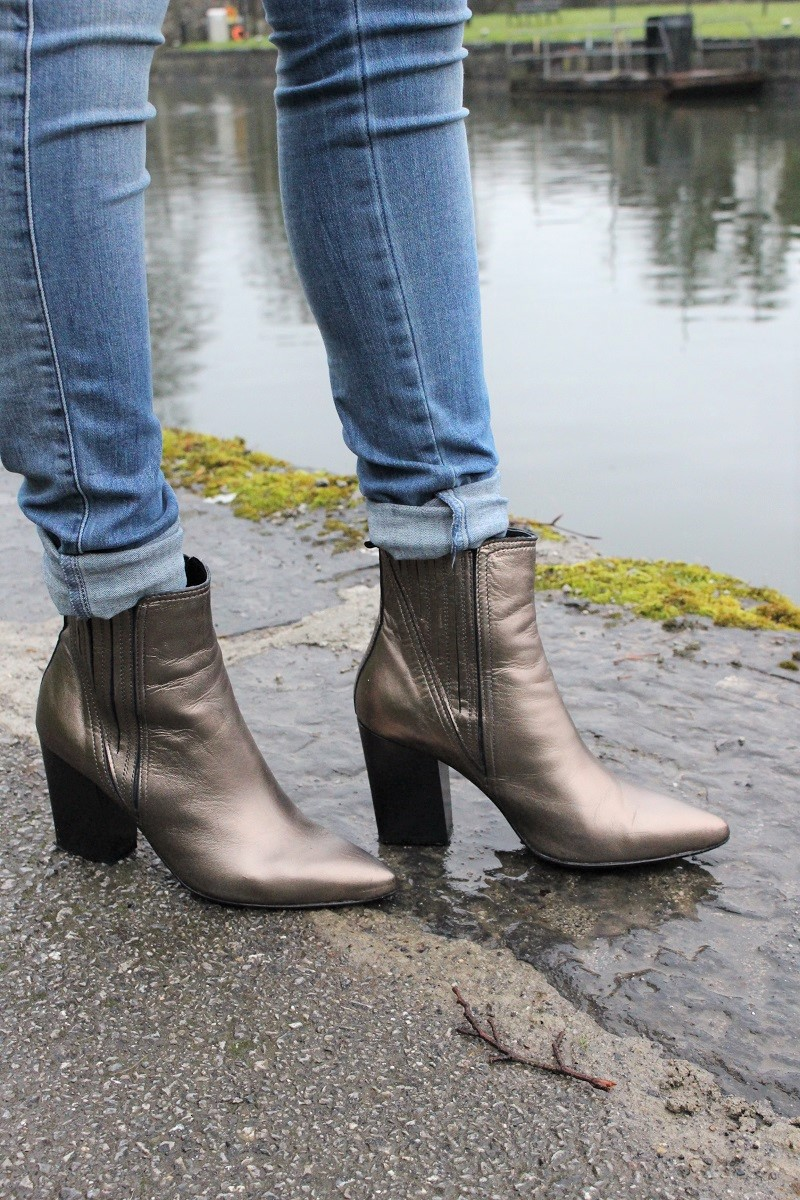 carvela Kurt Geiger, leather ankle pointy boots