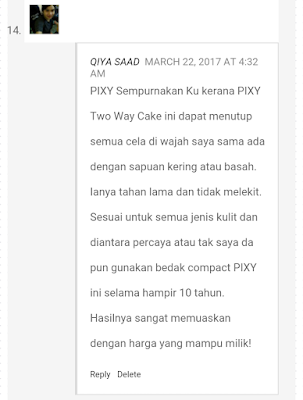 Pixy, pixy malaysia, pixy sempurnakan ku contest, contest, beauty, make-up, pixy two way cake,