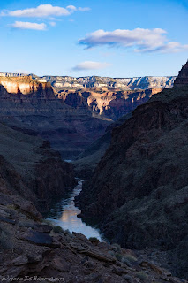 deer creek, looking down on the colorado river grand canyon of the colorado rafting whereisbaer chris baer