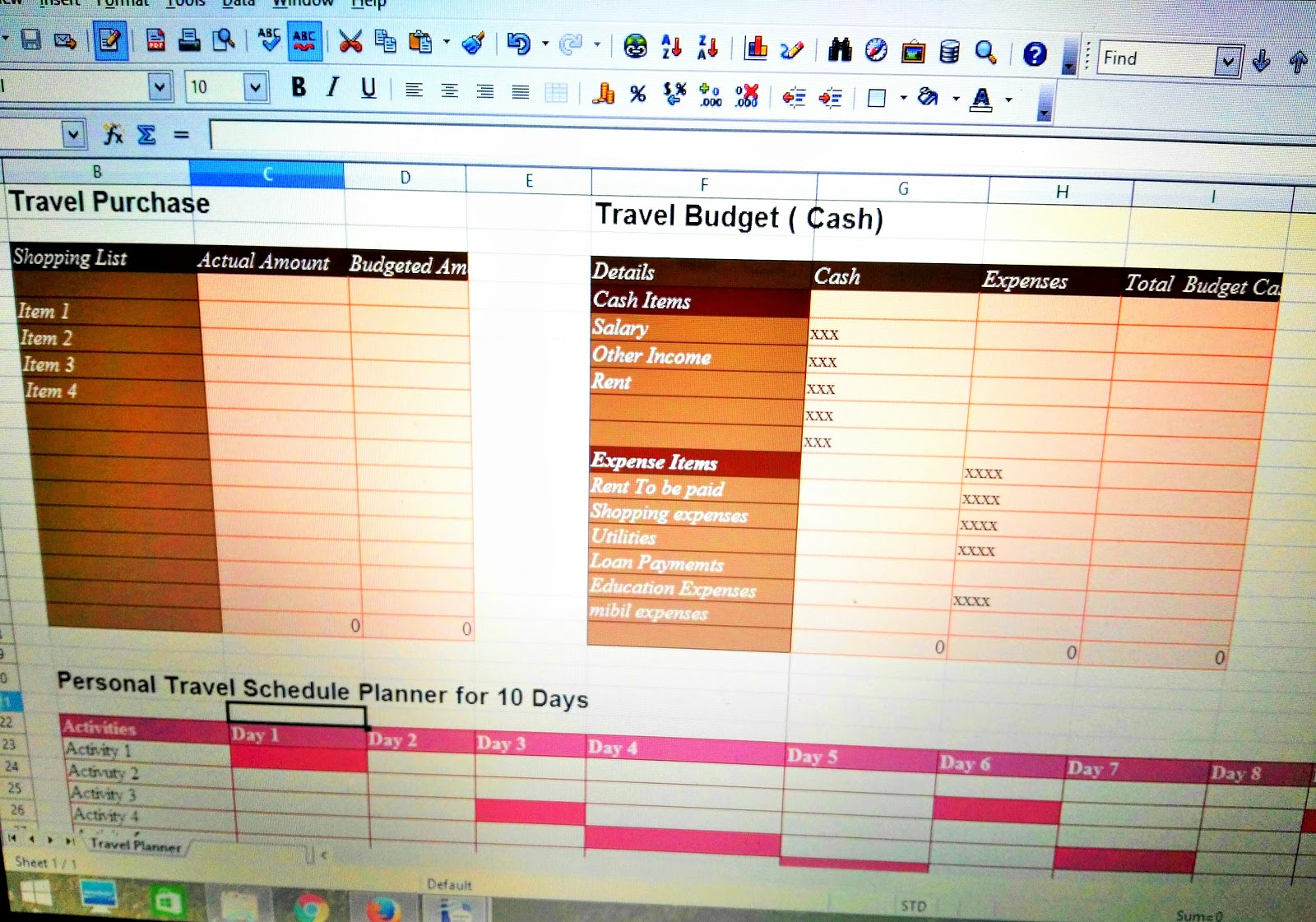 Download Free Travel Planner in Excel Format