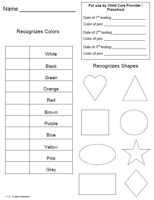 year old assessment for preschool 1 2 3 learn curriculum children s portfolios 3