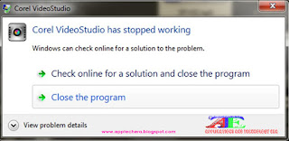 Corel videostudio has stopped working A problem caused the program to stop working properly