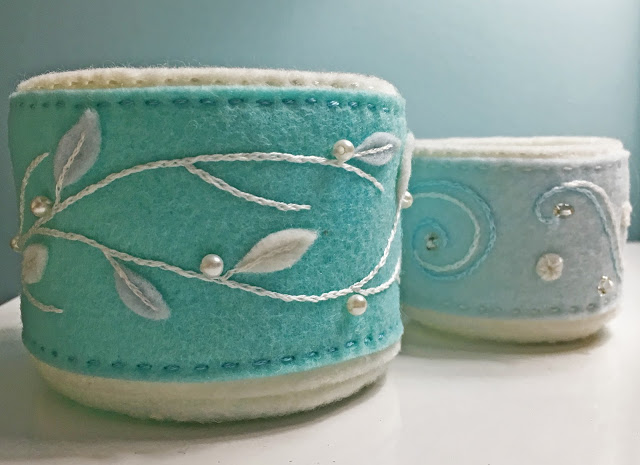 Learn how to embroider felt and make it into a felt basket. Tutorial by KSB Crafts & Stitches