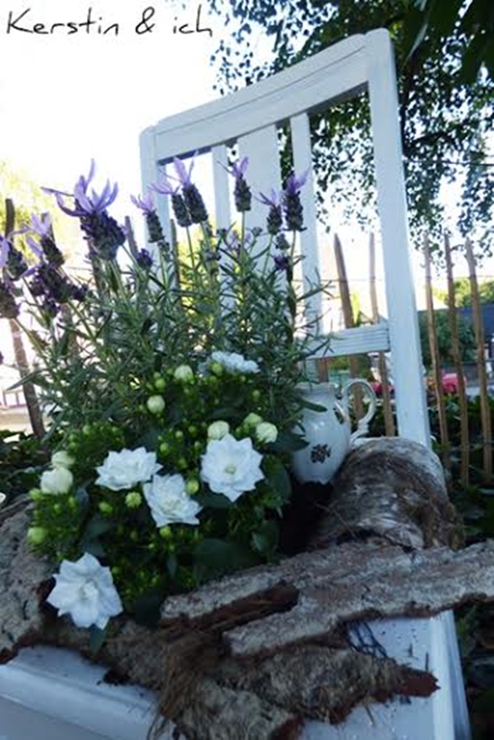 DIY bepflanzter Stuhl