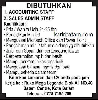 Lowongan Kerja Accounting Staff Januari 2018