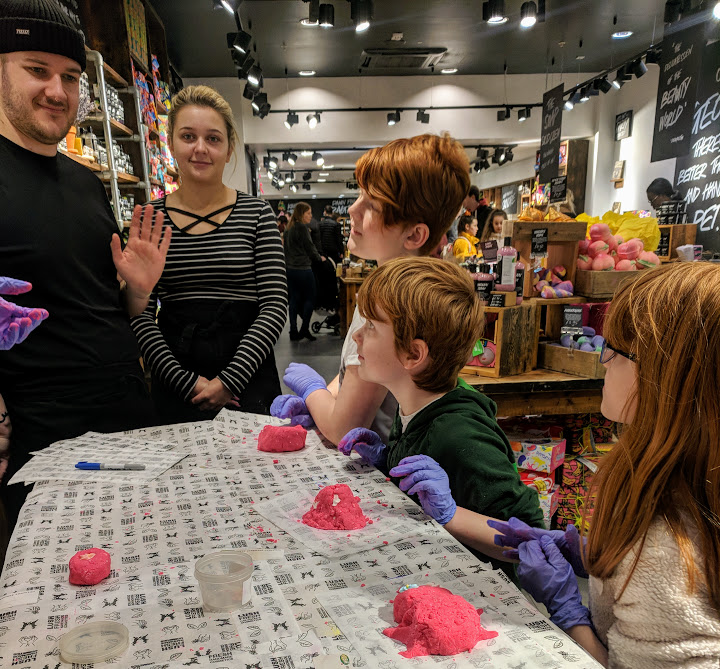 Lush Newcastle |  Children's Birthday Party Review  - bubble bar judging