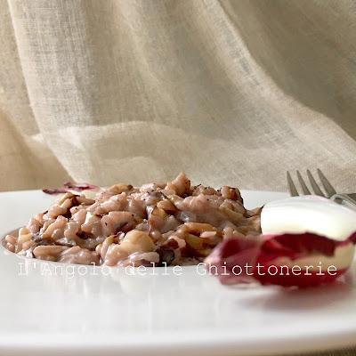 risotto al radicchio rosso di treviso igp, robiola e balsamico di reggio emilia dop