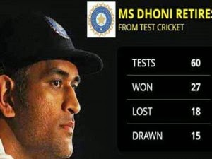 Dhoni's test career highlights