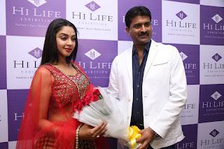 Angana Roy Stills in Lehenga Choli at Hi Life Exhibition Launch ~ Celebs Next