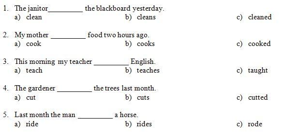 """Contoh Soal Grammar Bahasa Inggris untuk SD Kelas 6 dengan Tema """"Simple Past Tense"""" Latihan 1 Dilengkapi dengan Kunci Jawaban"""