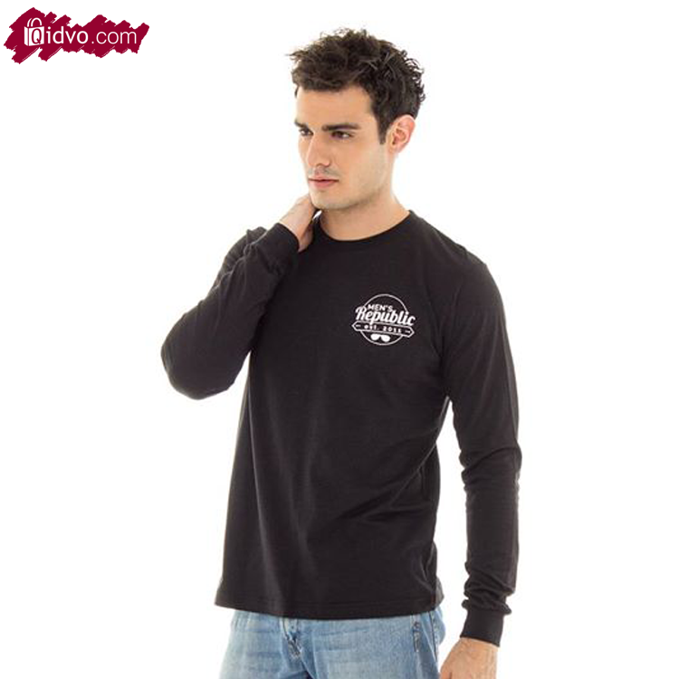 Kaos Lengan Panjang Mens Republic Brooklyn - Black