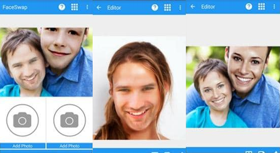 Aplikasi bertukar dan edit wajah