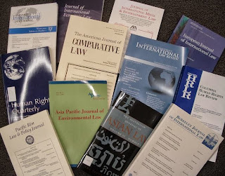 photo of a dozen law journals