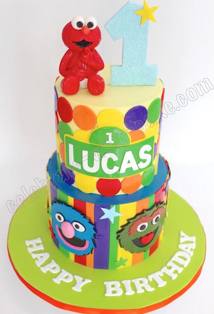 Celebrate With Cake Sesame Street Tier Cake