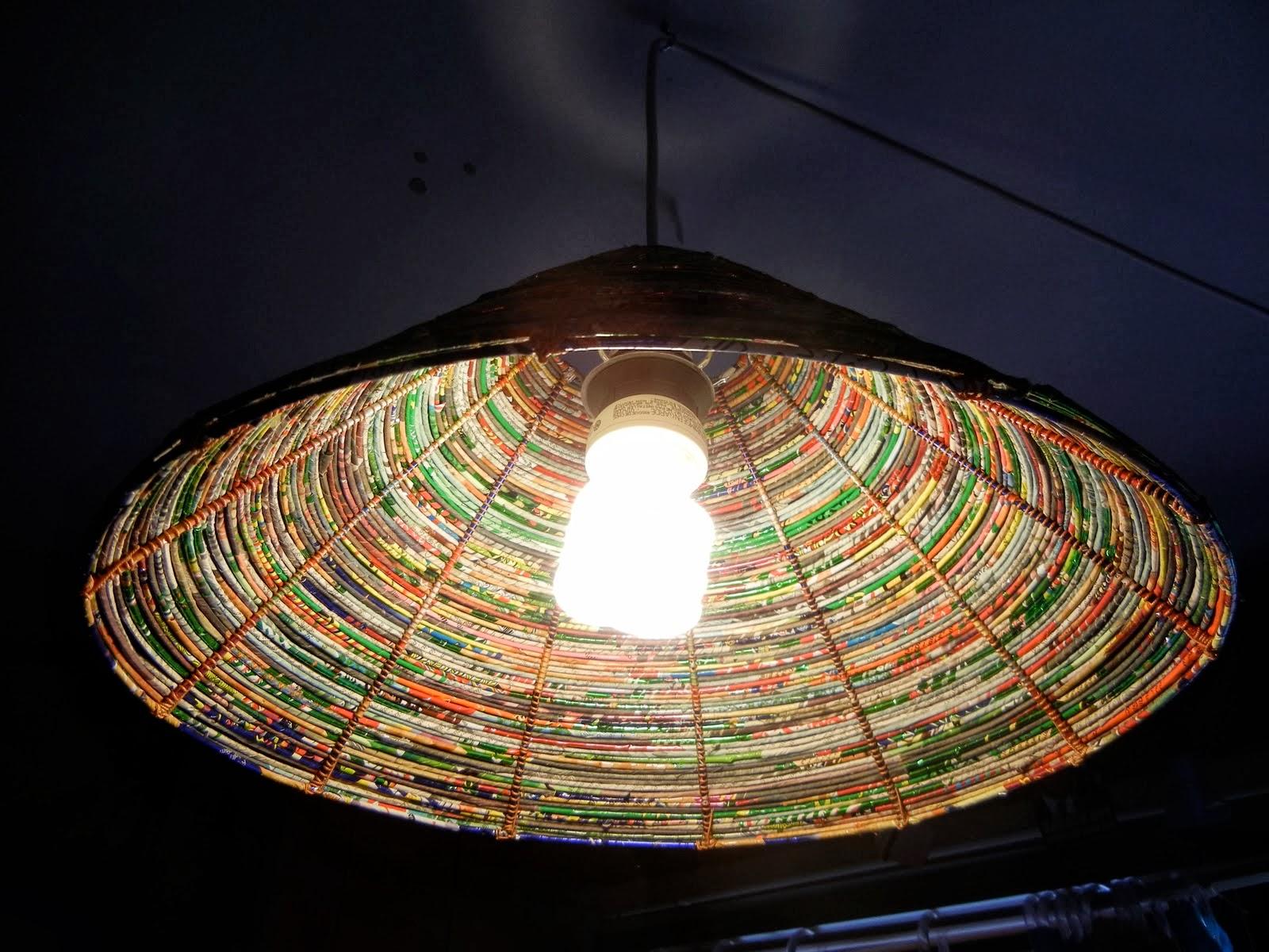 The Art Of Up-Cycling: Diy Lamp Shades - Made From Junk ...