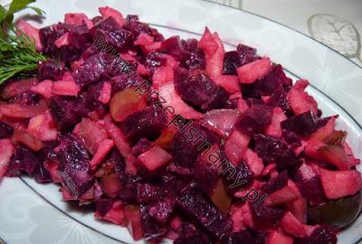 Buraczki z jabłkami na gorąco