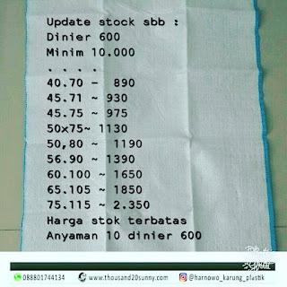 harga special ambil minim 10.000 stok terbatas  harnowo karung murah