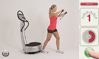 Power Plate my7, with proMOTION dynamic Vectran cables, transfer vibrations directly to targeted muscles