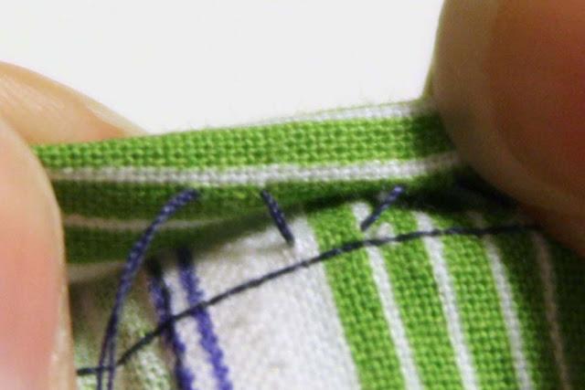 Hand blind stitch