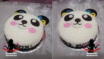 Kue Tart Ulang Tahun Karakter Bentuk beruang Panda