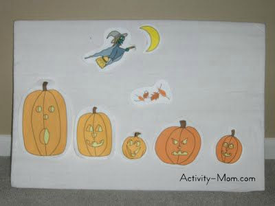 5 little pumpkins felt board activity