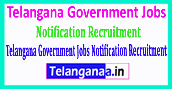 Latest Telangana Government Jobs 2018 Notification Recruitment