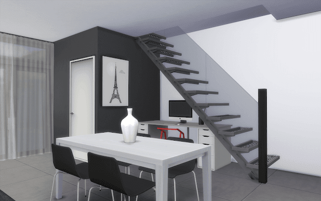 modern desk sims 4
