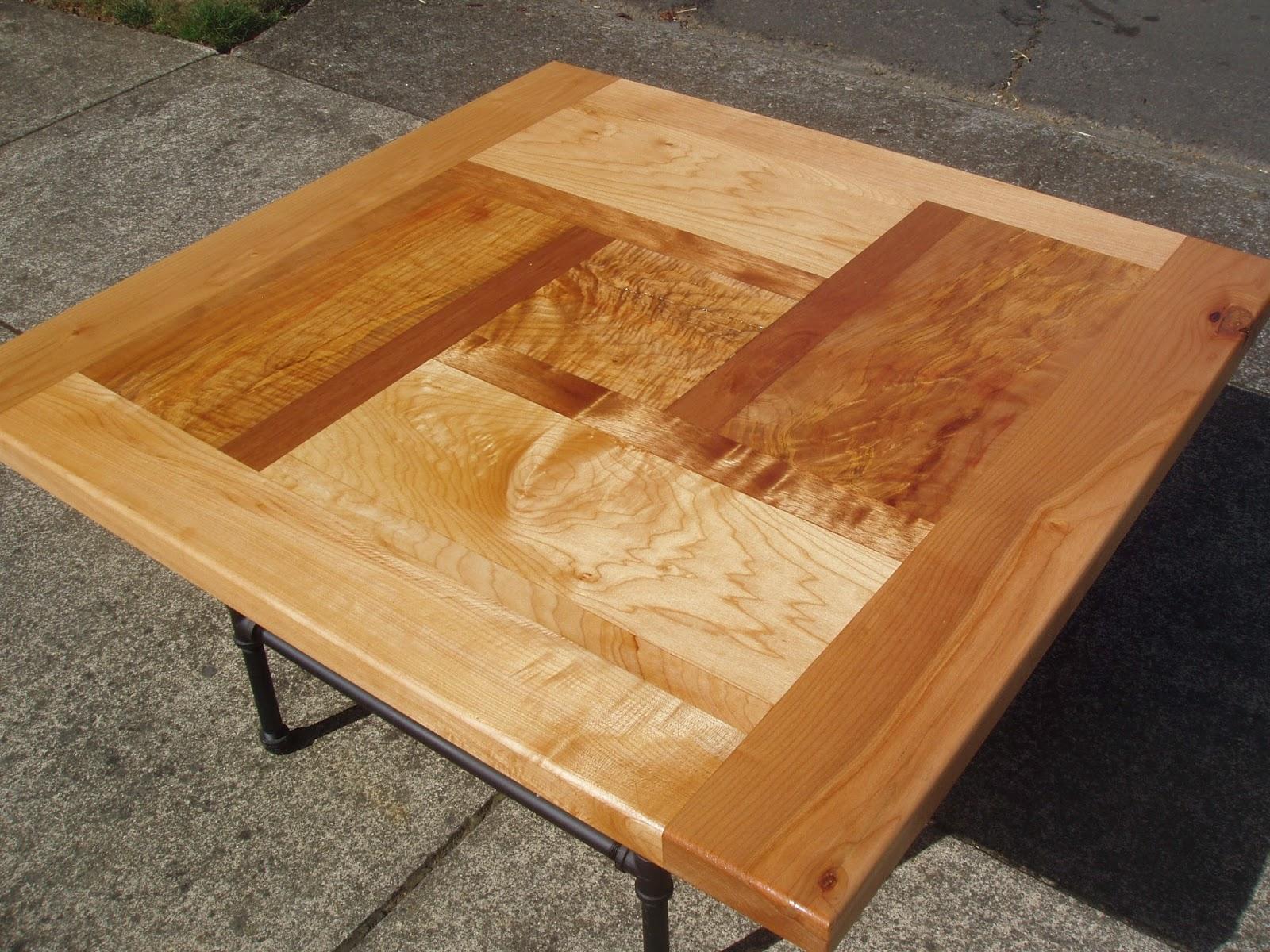 Driftedge Woodworking Pinwheel Design Coffee Table In