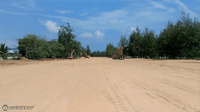 Projek jalan baharu Lapangan Terbang Sultan Mahmud - KTCC, ECERDC, Terengganu,
