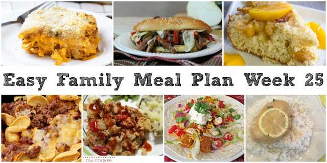 Cooking with carlee easy family meal plan week 25 Easy dinner recipes for family of 6