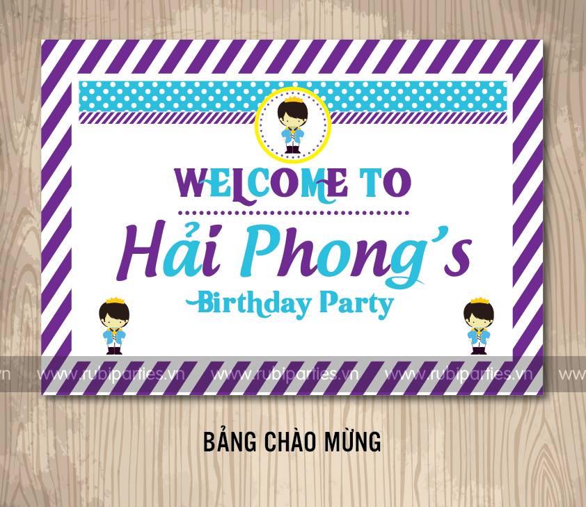 Bang chao mung sinh nhat theo chu de Hoang Tu