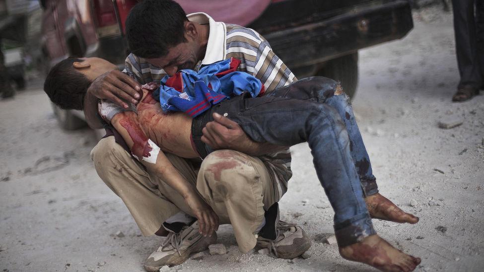Resultado de imagen de guerra y muerte en siria
