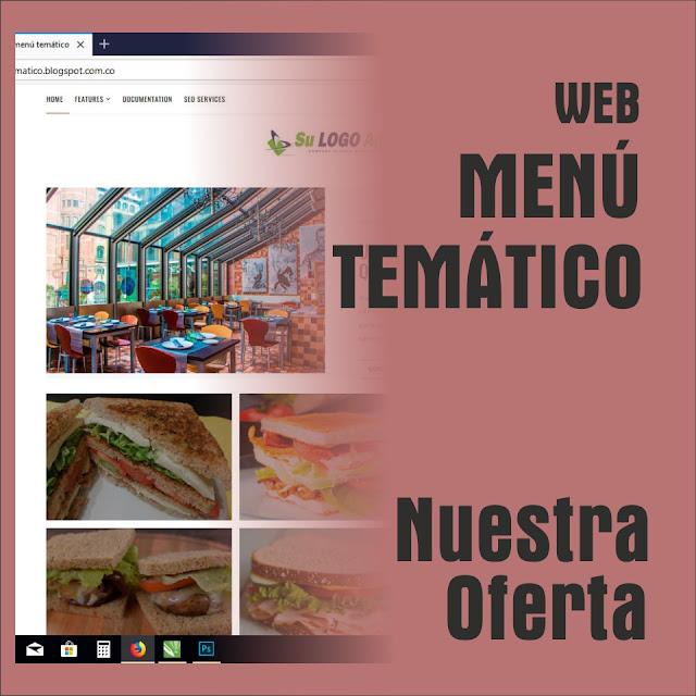 Sitio Web Restaurantes con Menú del Dia
