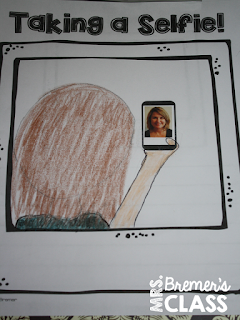 Selfies! an All About Me craftivity perfect for the beginning of the school year