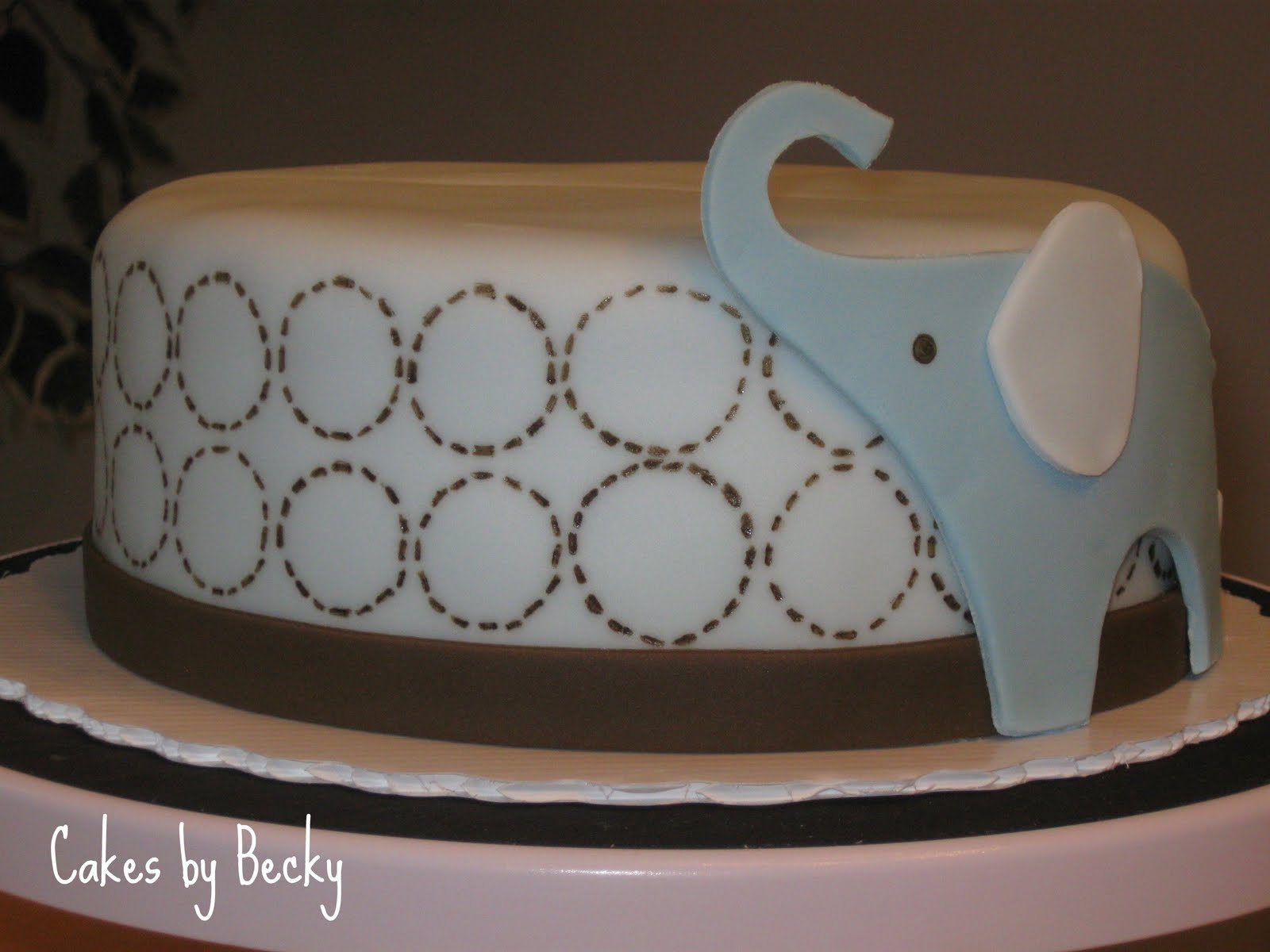 Cakes By Becky Blue Elephant Baby Shower Cake