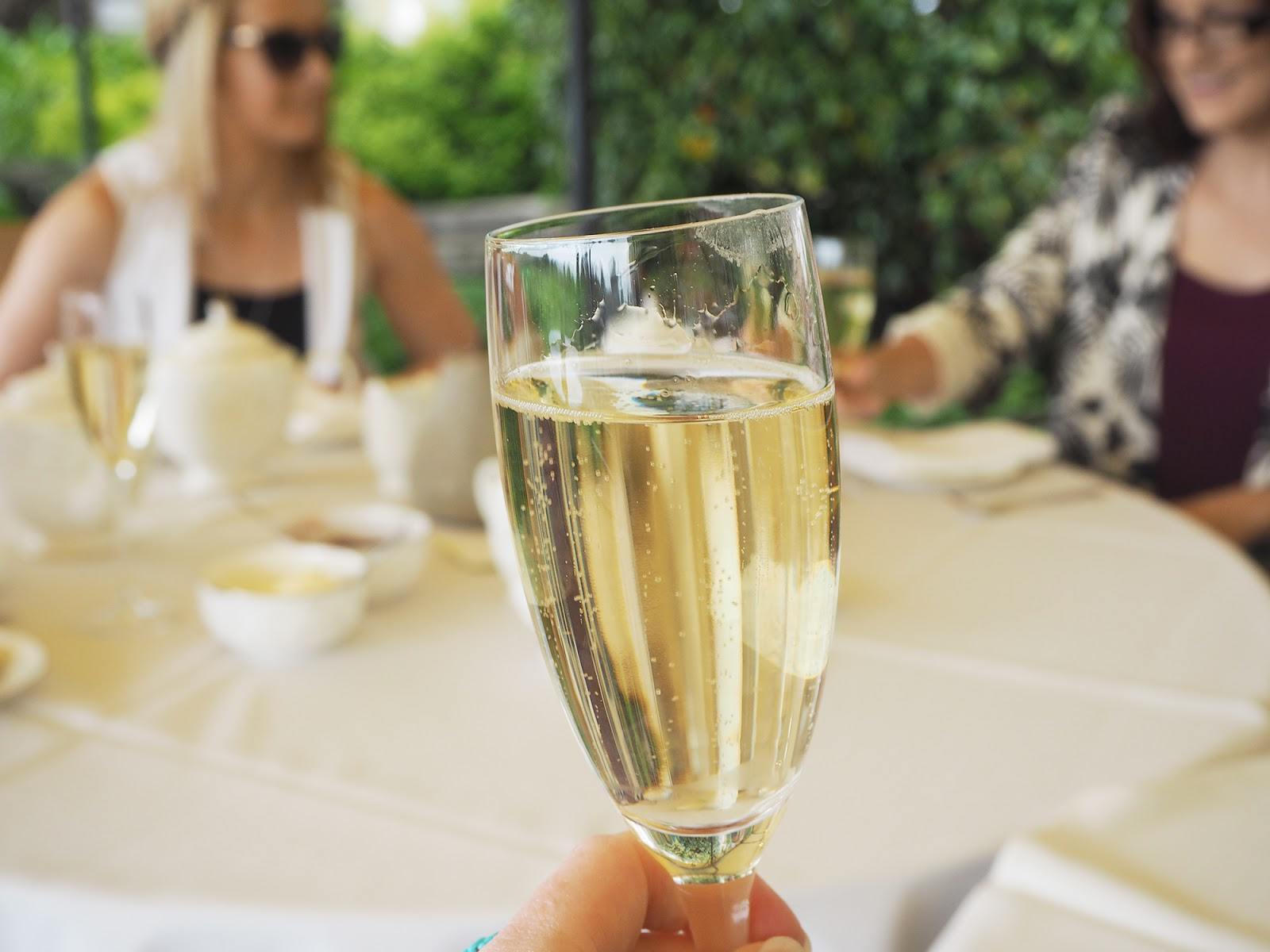 Afternoon tea review at South Lodge in Horsham - champagne