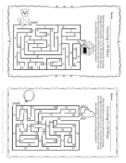 Free Counting Mazes