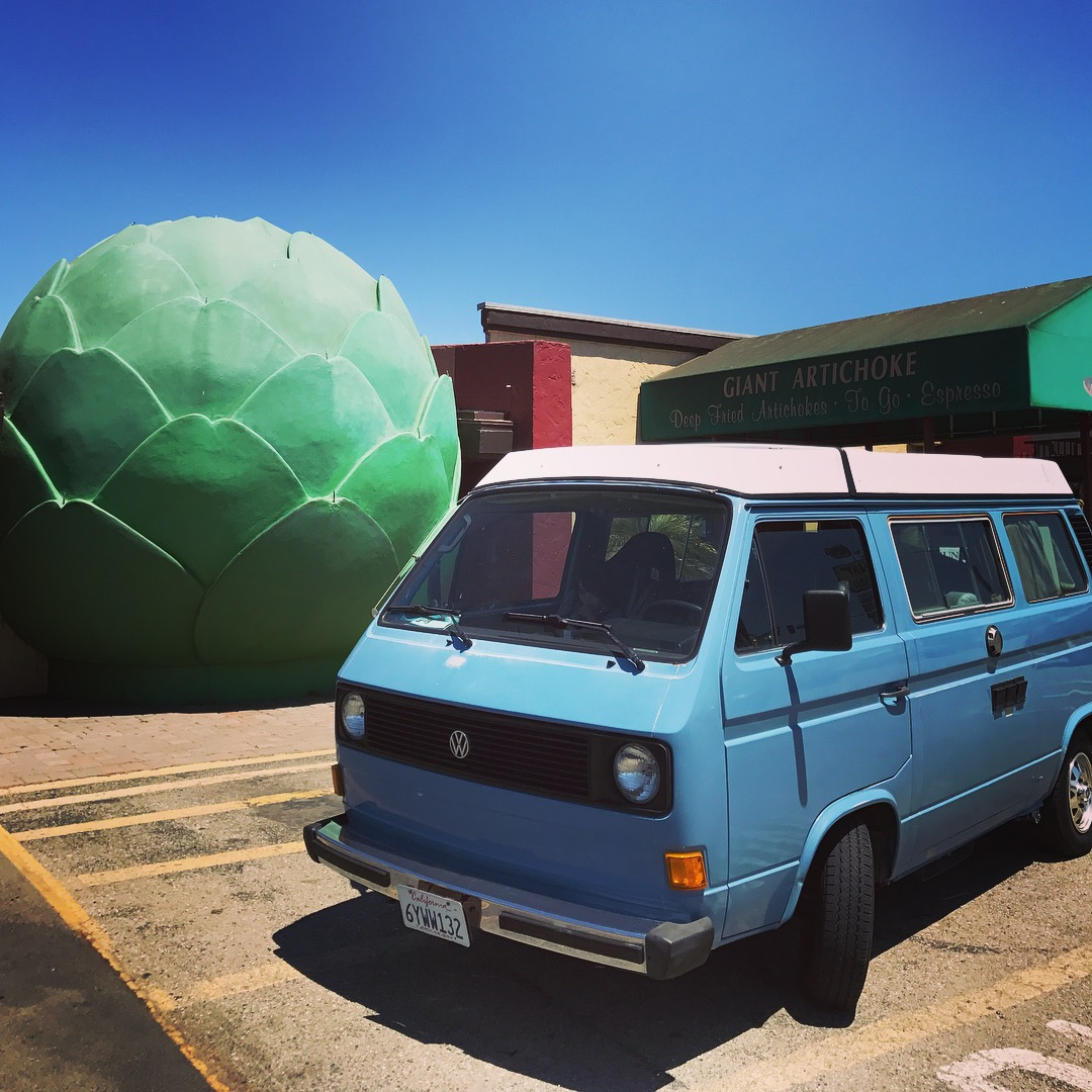 1981 VW Camper: Lake Nacimiento, Artichokes, and GoWesty