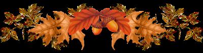 Осенний клипарт и разделители для текста