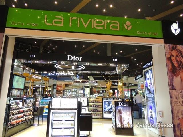 Loja Duty-Free no aeroporto de Bogotá