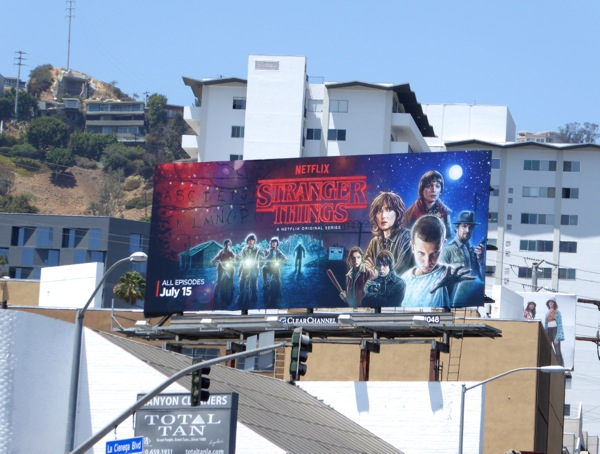 Stranger Things Netflix series billboard
