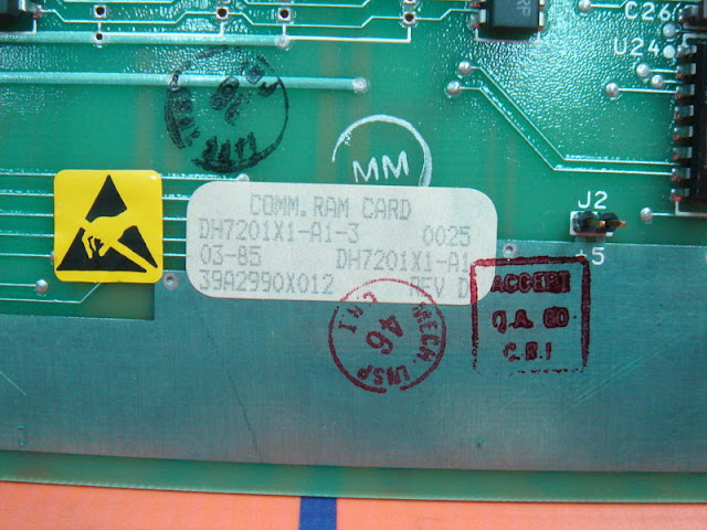 FISHER ROSEMOUNT DH7201X1-A1-3 / 39A2990X012 COMMON RAM CARD REV.D