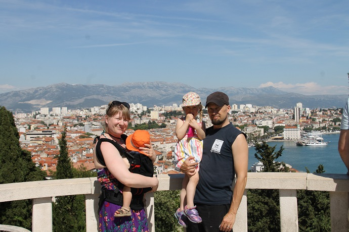 Splitissä pienten lasten kanssa. Perhematka Kroatiassa 2016