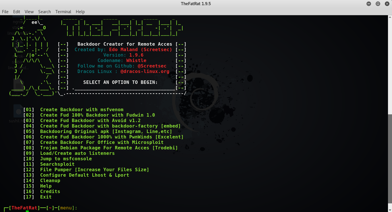 How to install TheFatRat on Kali Linux To make a Backdoor