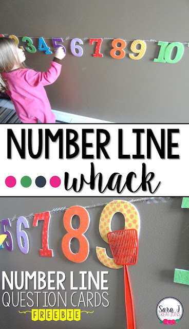 Number line whack is such a fun hands on way to build number sense and practicing counting numbers.